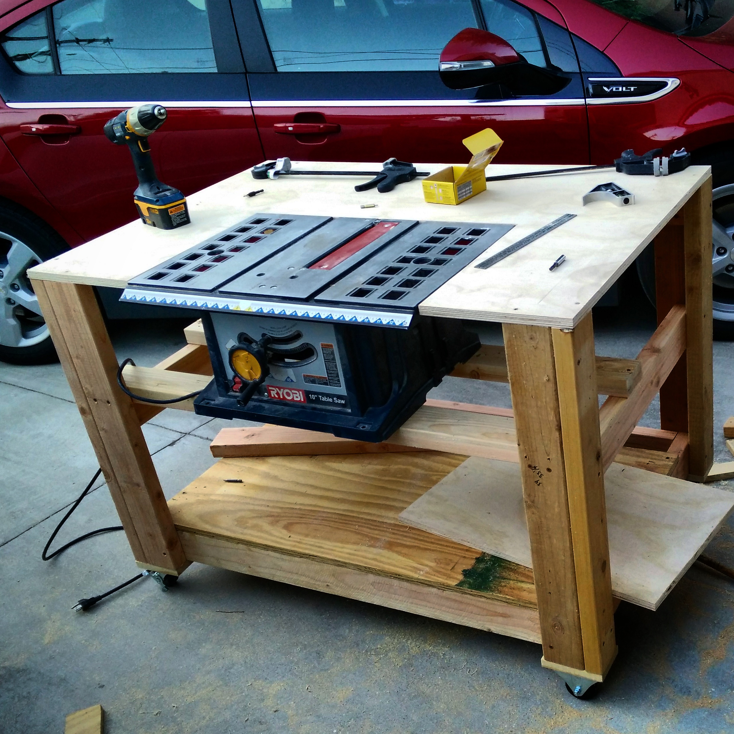 Mobile Workbenches For Garages : Garage organization workbench project of